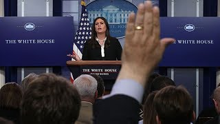 Sarah Huckabee Sanders spent almost half of her briefing defending Trump's 'bleeding facelift' tweet