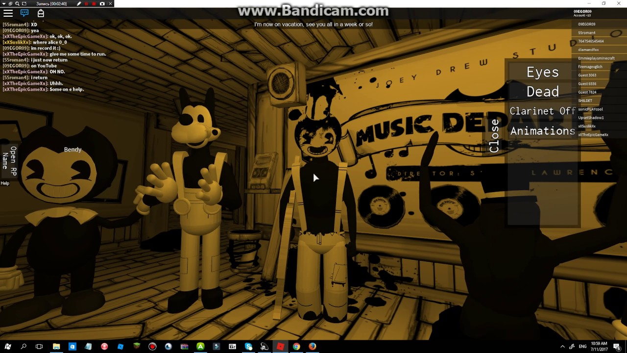 Bendy And The Ink Machine Song Gospel Of Dismay In Roblox Youtube