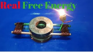 how to make free energy generator with magnet and pencil using light bulb new technology