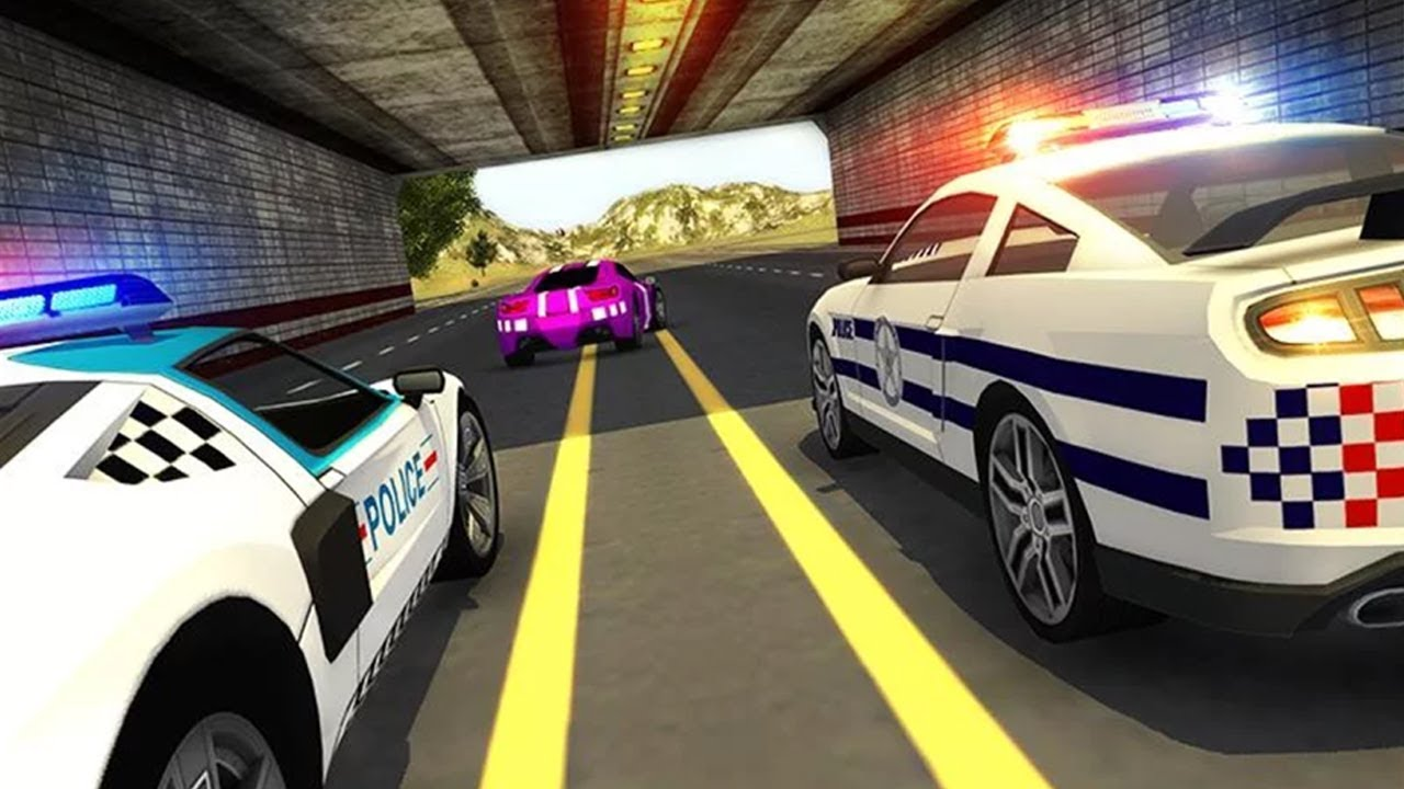 police car vs gangster escape android gameplay video car games for kids