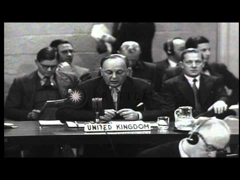 Iran's oil nationalization and takeover of the Anglo-Iranian Oil Company (AIOC) r...HD Stock Footage