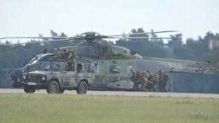 Crisis Exercise Evacuation Scenario German Air Force Luftwaffe Transall A400M CH-53 NH-90 ILA 2016