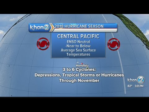3-6 tropical cyclones expected in Central Pacific this hurricane season