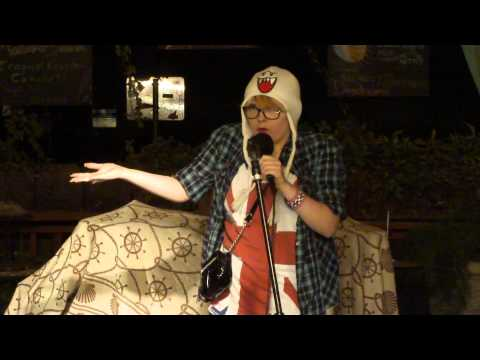 This girl attempts stand-up comedy... I guess you could say she killed it. x-post from /r/comedycemetary