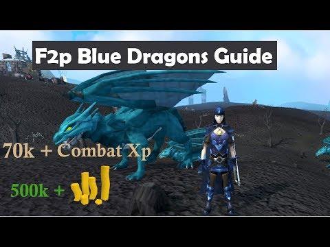 Runescape 3 F2P Blue Dragons Guide [new F2p Update]