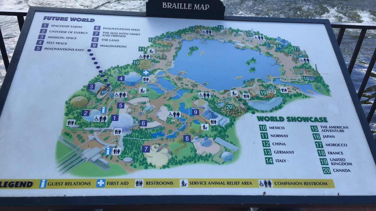 Braille Map at Epcot at Walt Disney World - YouTube