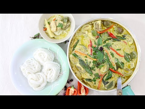 Thai Green Curry With Chicken ขนมจีนแกงไก่ - Episode 185