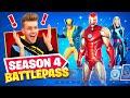 *NEW* SEASON 4 Marvel BATTLEPASS (Iron Man, Thor + Wolverine)
