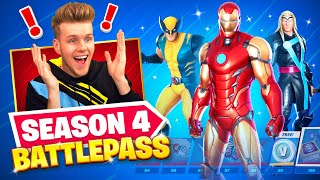 *NEW* SEASON 4 Marvel BATTLEPASS (Iron Man, Thor + Wolverine)