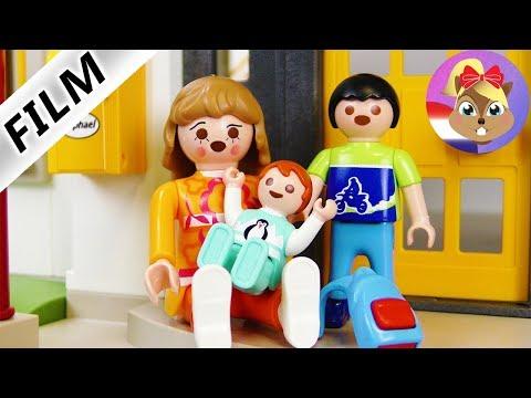 Playmobil video Nederlands - EMMAS NIEUWE FAMILIE! THUIS WEGGELOPEN! Kinderserie familie Vogel