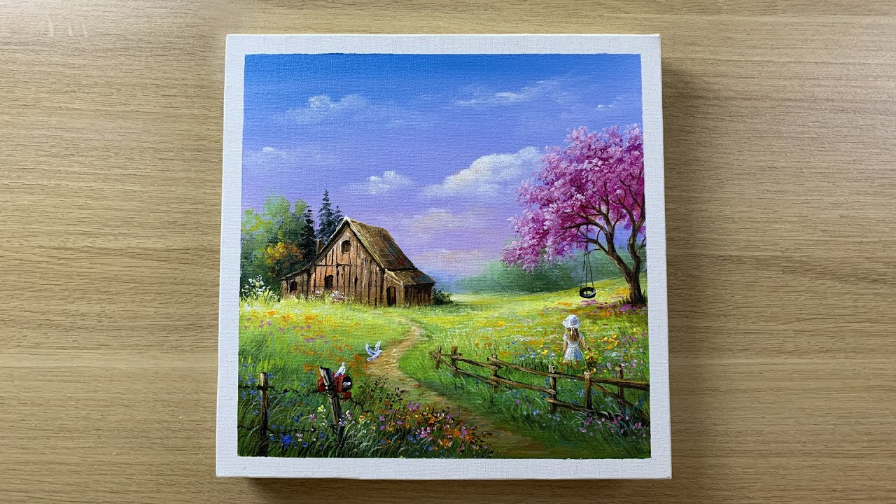 A little house on the prairie Painting