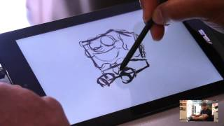 aSUS VivoTab Note 8 M80TA Tablet Drawing with Mike Borja