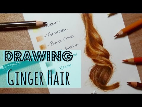 Drawing Tutorial: Realistic Ginger Hair In Coloured Pencil