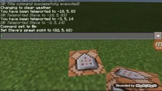 Hướng dẫn làm cỗ máy dịch chuyển trong minecraft bằng cái comman block
