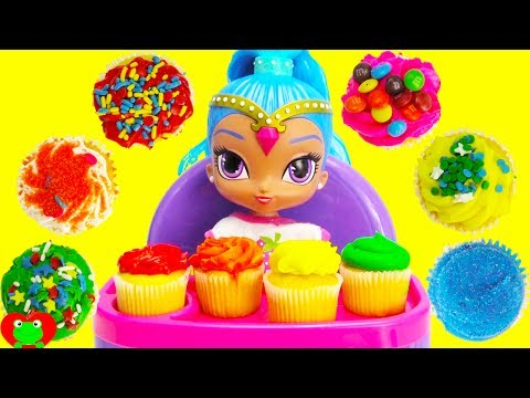 Best Learn Colors Video For Kids Shimmer and Shine's Shine Eats Cupcakes