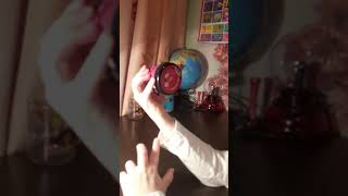 Ниндзя слайм розового цвета распаковка