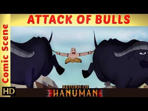 Return of Hanuman | Attack of Bulls | Comic Scene | HD