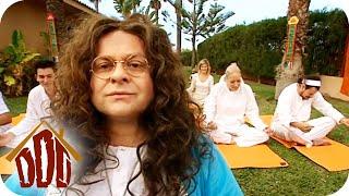 Furzen im Yoga-Kurs