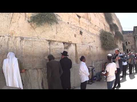 The story of the Western Wall (Wailing Wall), Jerusalem, Israel