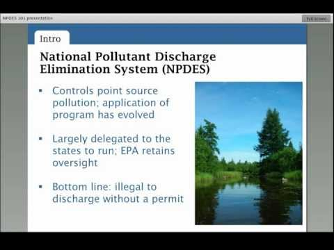 National Pollutant Discharge Elimination System (NPDES) 101 Webinar: Dec. 5, 2012