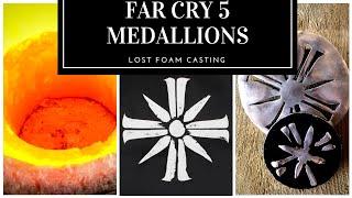 TRASH TO TREASURE ??  FAR CRY 5 MEDALLIONS FROM SCRAP LOST FOAM CASTING MID WEEK MELT