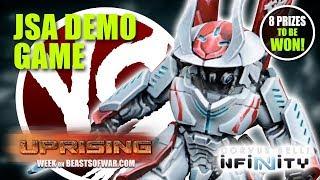 Infinity Uprising: JSA Vs USAriadna Demo Game