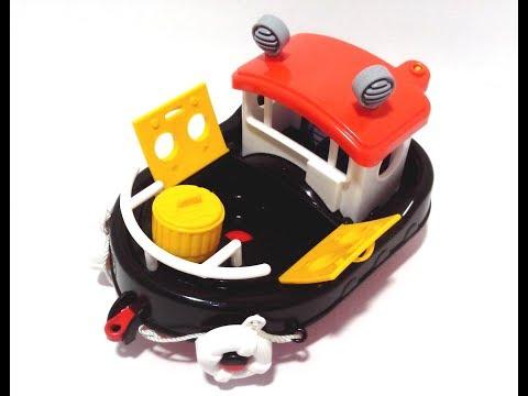 Игрушка корабль танкер нефтяной черный