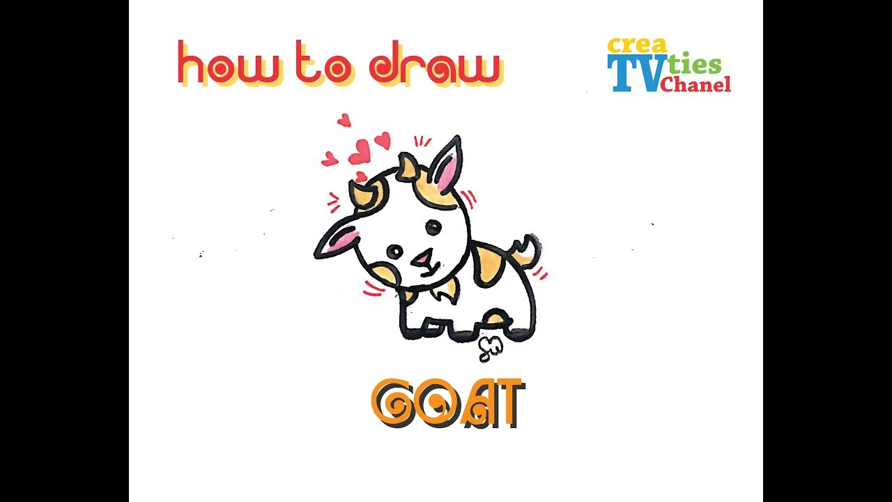 How To Draw A Cute Goat Youtube