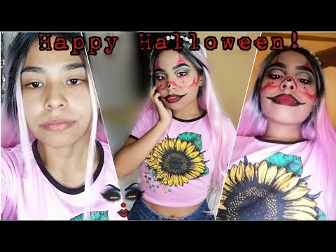 PAYASA GANGSTER CLOWN🤡 PARA HALLOWEEN ☠️ | Wenndy Alanis thumbnail