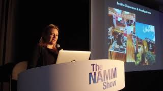 Cindy Reichel, co-founder of Patchwerks at NAMM 2019
