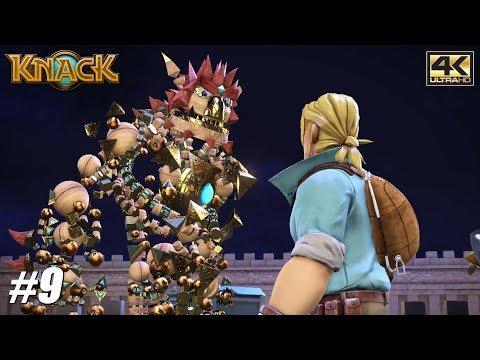 Knack - PS4 Pro Gameplay Playthrough 4K 2160p - PART 9