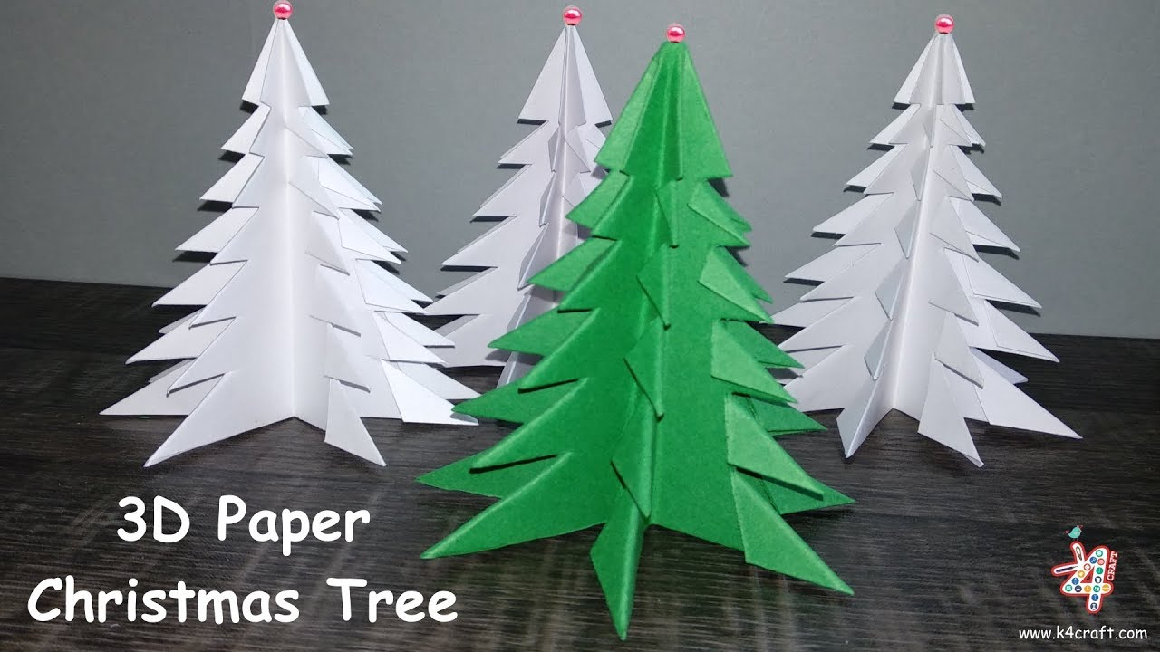 How To Make 3D Paper Christmas Tree 🎄 3D Xmas Tree DIY