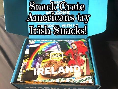 American's Try Irish Snacks | Snack Crate Ireland 2018