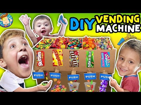 DIY Cardboard Candy Dispenser Vending Machine! |FUNnel Vision