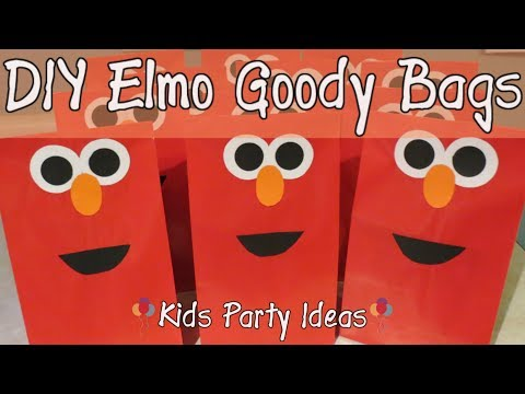 Cute DIY Goody Bag Ideas-Elmo Theme|Kids Party Time
