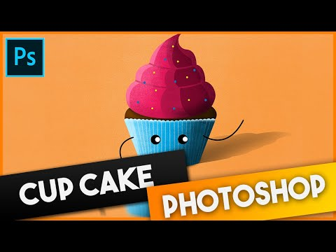 Cup Cake Photoshop Art | Speed Art