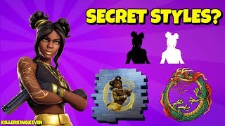 Are there SECRET TIER 100 LUXE EDIT STYLES in Fortnite?