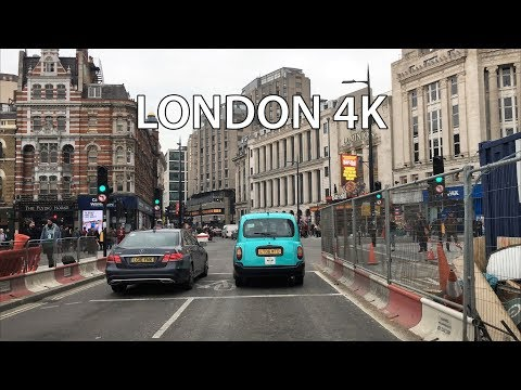 London 4K - Theater District - Convent Garden - Driving Downtown - England