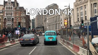 London 4k - Theater District - Driving Downtown Uk