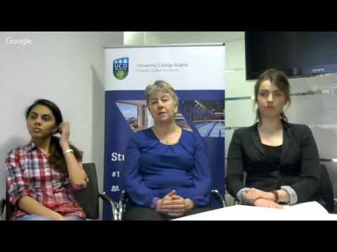 University College Dublin Post Graduate Google Hangout
