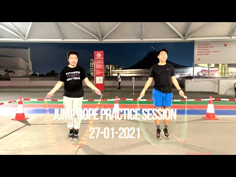 Synchronised Jump Rope Practice Session - Singapore Sport Hub