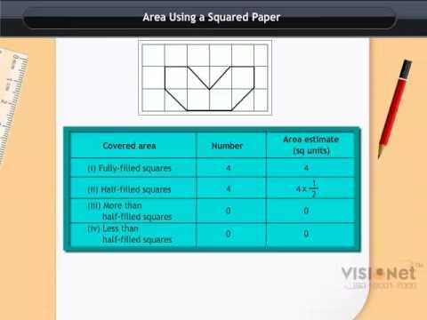 Class VI: Mathematics - Mensuration Area using a Squared Paper - YouTube