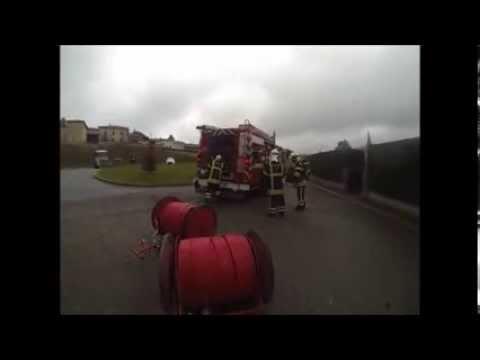 Pompiers de St Vincent de Reins - Manoeuvre DO GPLc 01-2014