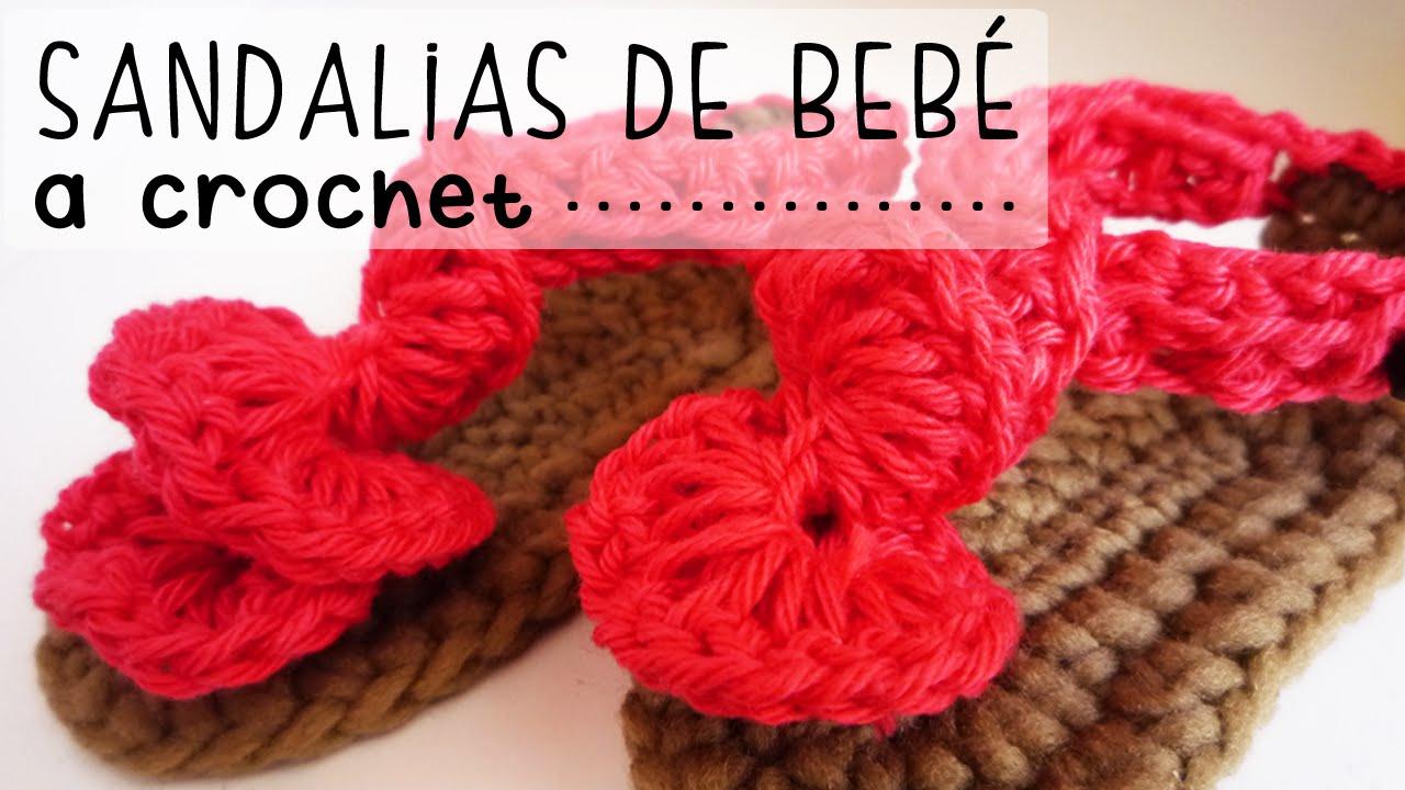 5c28b7008 Sandalias de Bebé a Crochet - PASO A PASO - Parte 1 de 2 - YouTube