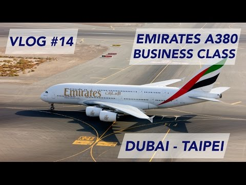 Emirates A380 Business Class Dubai to Taipei - The Big Whale to Taiwan [1080p60]