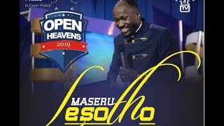 Open Heaven: MASERU, LESOTHO // Day 1 Morning with Apostle Johnson Suleman