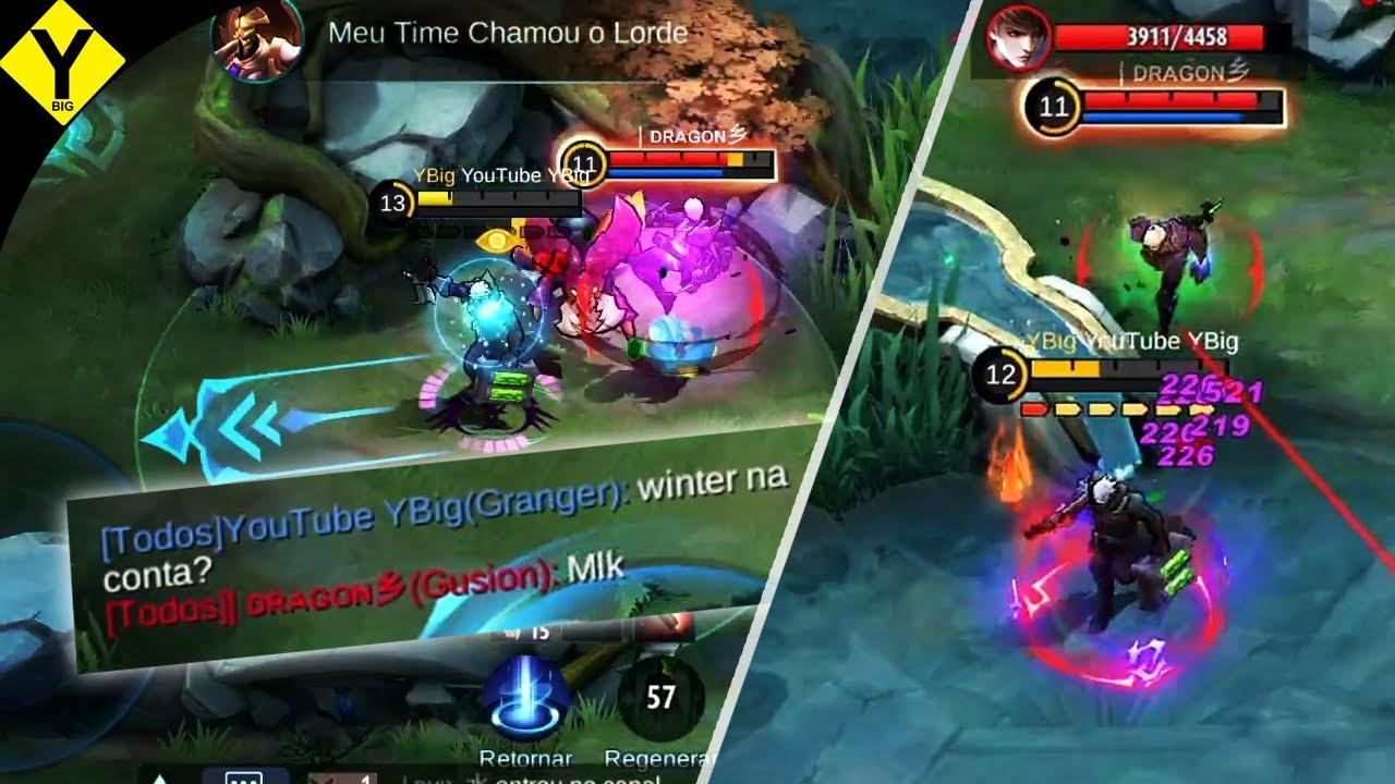 ESSE GUSION FOI COMPLETAMENTE RULADO! | Mobile Legends: Bang Bang