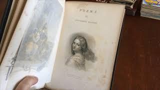 Poetry Works Fitz-Greene Halleck 1847 Splendid decorative leather book