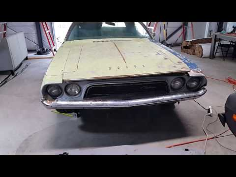 295 Front Tire On The 73 Challenger Build!