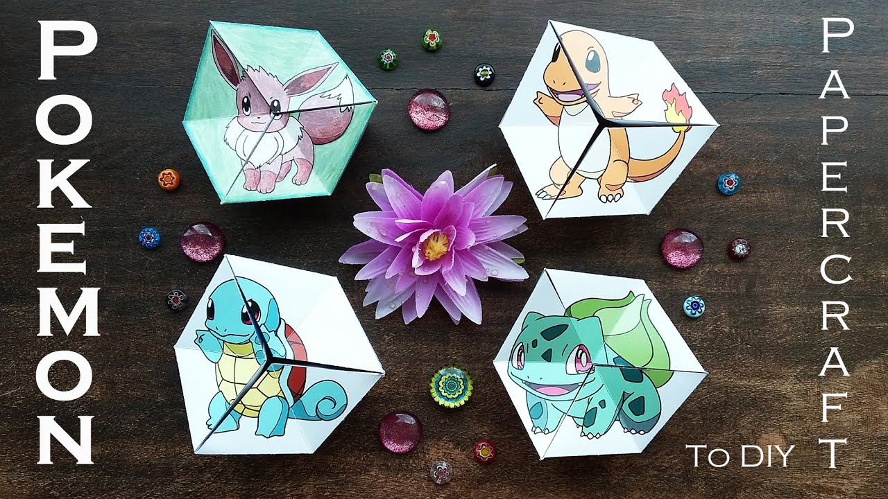 Hattifant Pokemon Evolution Kaleidocycle Papertoy